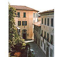 Village street Italian style. Photographic Print