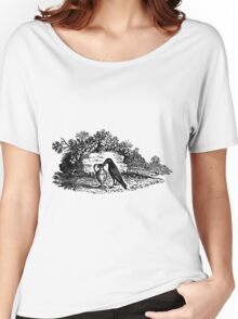 Antique Crow Aesop's Fable Women's Relaxed Fit T-Shirt