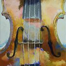 Violin Painting by Michael Creese