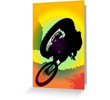 Jumping the rasta sun Greeting Card