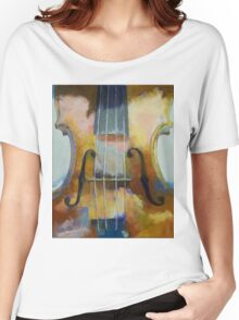 Violin Painting Women's Relaxed Fit T-Shirt