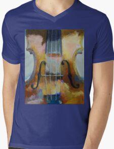 Violin Painting Mens V-Neck T-Shirt