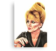 Joanna Lumley plays Patsy Stone Canvas Print
