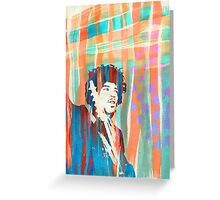 Jimi Hendrix Portrait Psychedelic Sixties by Pepe Psyche Greeting Card