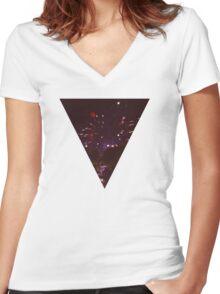 Summer Fun Women's Fitted V-Neck T-Shirt