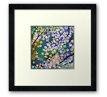 Sakura Oil Painting Framed Print