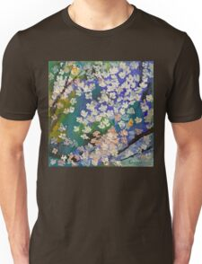 Sakura Oil Painting Unisex T-Shirt