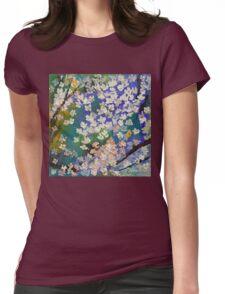 Sakura Oil Painting Womens Fitted T-Shirt