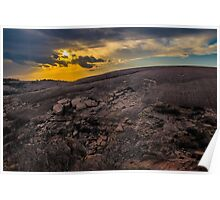 Sunset at Enchanted Rock Poster