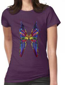 BUTTERFLIED LIGHT Womens Fitted T-Shirt