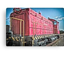 Red Engine Canvas Print