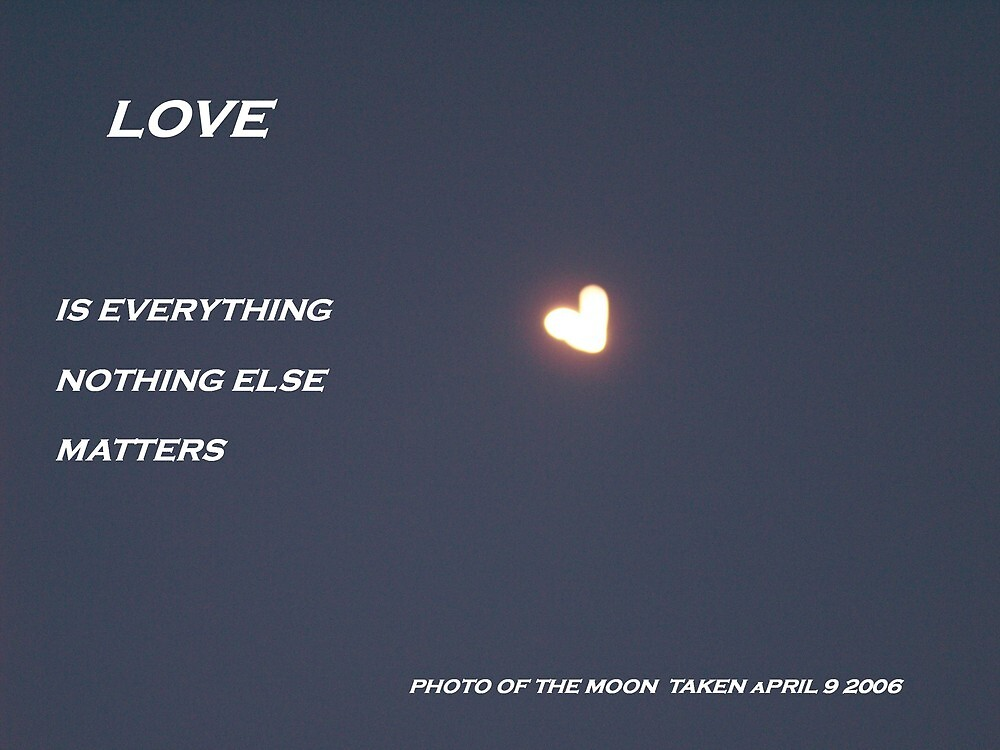 Blue sky moon Love is everything by oursonbilly