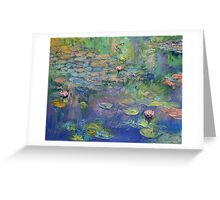 Water Garden Greeting Card