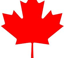 """CANADA, CANADIAN, MAPLE LEAF, Pure & Simple, Canadian Flag, National Flag of Canada, """"A Mari Usque Ad Mare"""" by TOM HILL - Designer"""