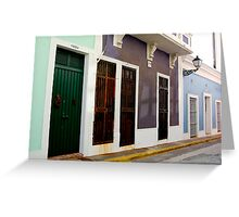 Old San Juan, Puerto Rico Greeting Card