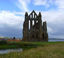Whitby Abbey, Pond View ~ Whitby, Yorkshire 2008 by Samantha Creary