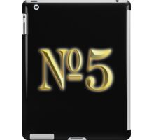 NUMBER 5, in Gold, FIFTH, FIVE, 5, Competition, TEAM SPORTS, iPad Case/Skin