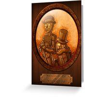Steam 3-PO and Sir Artoo Greeting Card