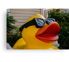 Yellow duck needs a sunglasses in Texas Canvas Print