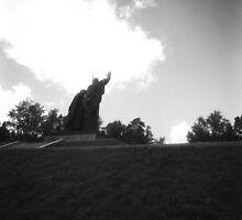 Tomsk WW II War Memorial Silhouette by Gordon Lukesh