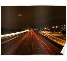 Freeway Light Trails - DVP Toronto Poster