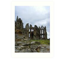 Whitby Abbey, Long View ~ Whitby, Yorkshire 2008 Art Print