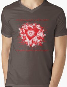Valentine Burst  Mens V-Neck T-Shirt