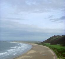 Over the Fence, Rhossili Bay ~ Gower, Swansea 2008 by Samantha Creary