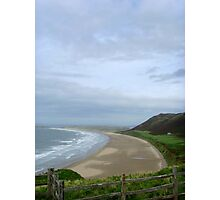 Over the Fence, Rhossili Bay ~ Gower, Swansea 2008 Photographic Print