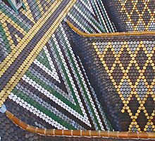 Viennese tiled rooftop by Michael Brewer