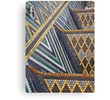 Viennese tiled rooftop Canvas Print