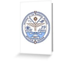 National Seal of the Marshall Islands Greeting Card