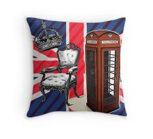 modern jubilee telephone booth london UK fashion Throw Pillow