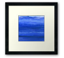 Ombre Waves Blue Ocean Framed Print