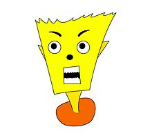 Yellow angry cartoon by mrhighsky