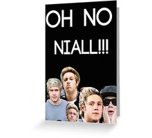 OH NO NIALL Designs Greeting Card