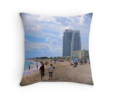 Scenes from Miami II Throw Pillow