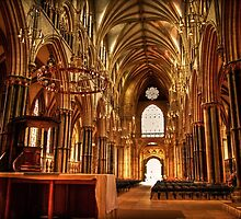 Lincoln Cathedral Altar & Nave by Yhun Suarez