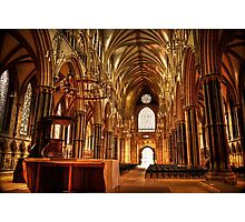 Lincoln Cathedral Altar & Nave Photographic Print
