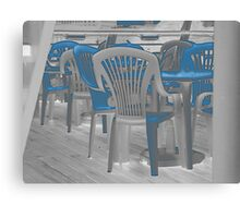 Chairs on Deck. Canvas Print