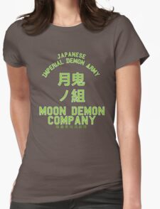 Moon Demon Company (Green) Womens Fitted T-Shirt