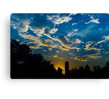 Sunset in East Austin Canvas Print