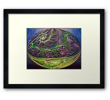 ©DA FS Oval Nature IA. Framed Print