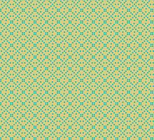 Yellow and Green Dots Pattern <3 by Elizabeth Escalera