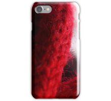 Macro Red Yarn Photograph iPhone Case/Skin