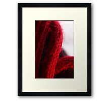 Macro Red Yarn Photograph Framed Print