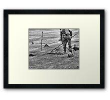 Mine Sweeping Framed Print
