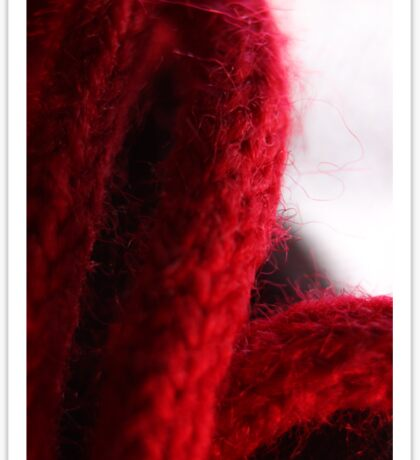Macro Red Yarn Photograph Sticker