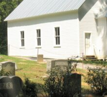 """""""Cades Cove Missionary Baptist Church""""... prints and products Sticker"""