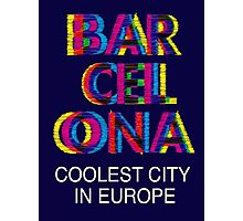 Barcelona Glitch Psychedelic Coolest City in Europe Photographic Print